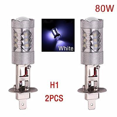 CALAP-STORE - Super Bright 2pcs 9006 9005 H7 H4 H3 H1 H8/H11 2828 SMD 80W LED Bulb CREE LED Headlight Fog DRL Running Lamp signal light Bulb