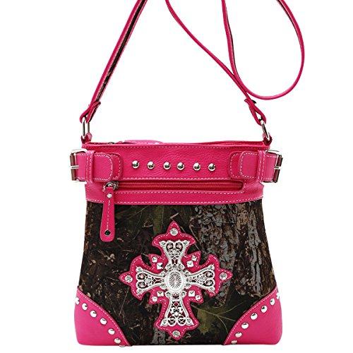 top-hot-pink-bling-cross-camo-purse-crossbody-messenger-leather-like-bag-fun-best-religious-birthday