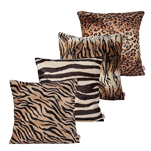 Queenie® - 4 Pcs Faux Fur Throw Pillow Covers Cushion Cover