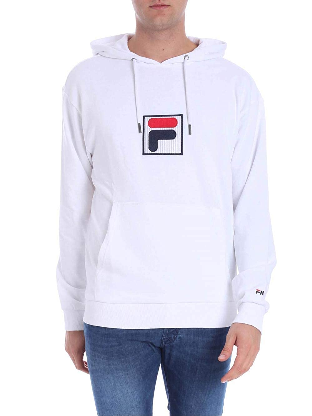 Fila Felpa in Cotone 682427 Weiß Größe XS