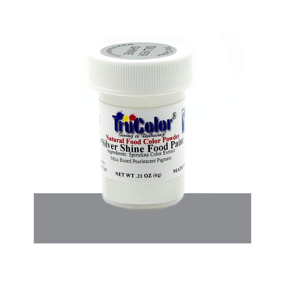 TruColor Silver Shine Natural Food-Coloring Powder Paint, 6 Grams
