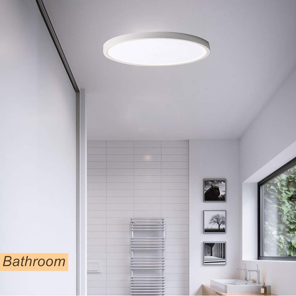 FSBMIN L/ámpara de techo 18W LED 3000K Blanco c/álido /Ø19cm para montaje empotrado en interiores luces de techo redondas para dormitorio Ba/ño Cocina Oficina Escalera Comedor