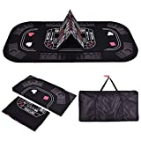 SKB family 3in1 Folding 8 Player Blackjack Craps Poker Table Top & Carrying Case Black