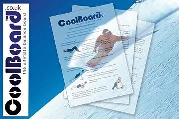 Ski y Snowboard entrenamiento para usar con un núcleo de tabla de equilibrio CoolBoard – fortalecer