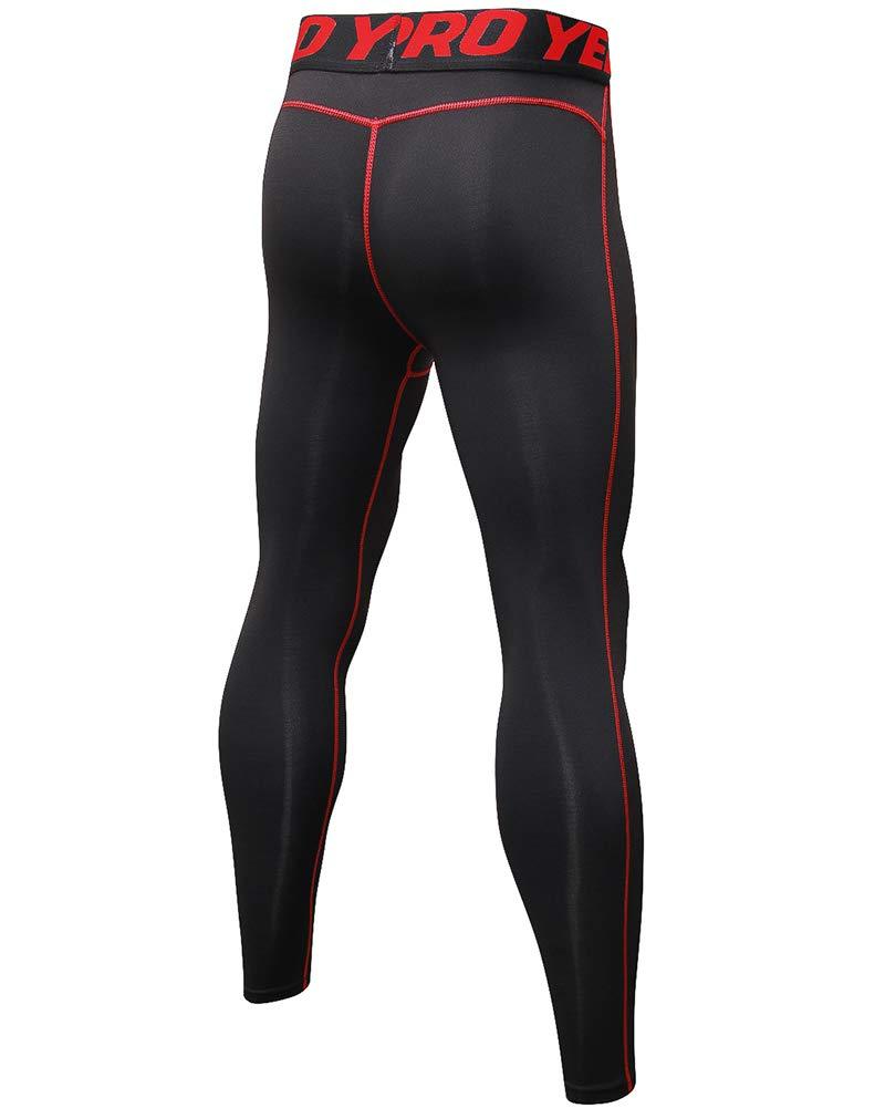 Shengwan Hombre Mallas Pantalones de Compresi/ón Secado R/ápido Leggings Largos para Running Yoga Fitness