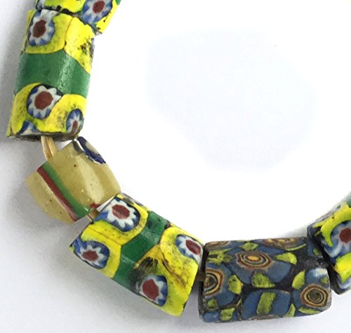 Millefiori Trade Beads (African Fine Assortment antique Venetian millefiori glass trade beads)