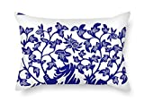 beeyoo Chinese Style Blue and White Porcelain Throw Pillow Covers...