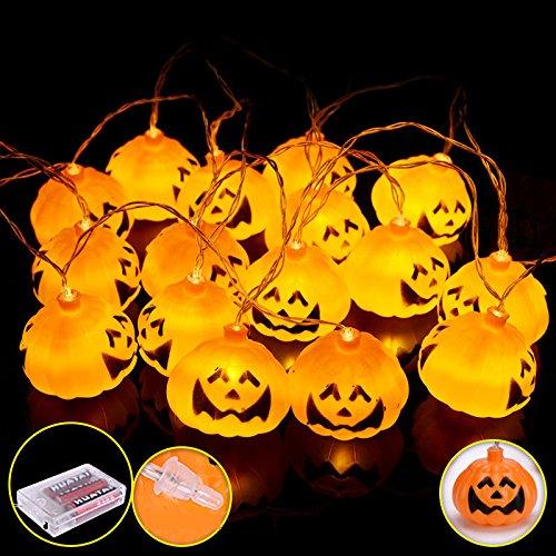 Decorative Lights Decorative Christmas Lights - 2.7M 16 LED Pumpkin String Lights LED for Festival Christmas - White - 1 x 2.7M 16 LED Halloween Pumpkin String Lights Details -