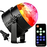 Disco ball-NIUBIER Disco Lights,(NEW GENERATION)RGB Sound Actived LED Water Ripple Dance Party Stage Lights,Karaoke Machine for Home Kids Birthday party,Club,Wedding Celebration