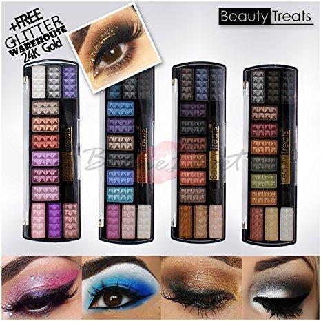4pc Beauty Treats Chrome Eye Shadow / Eyeshadow Palette