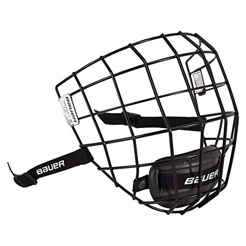 Bauer Profile II Ice Hockey Helmet Face Mask Cage with Mounting Hardware - CSA, CE, HECC Certified (Black, X-Small)