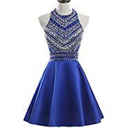 HEIMO Women's 2017 Sparkly Beaded Homecoming Dresses Sequined Prom Gowns Short H212