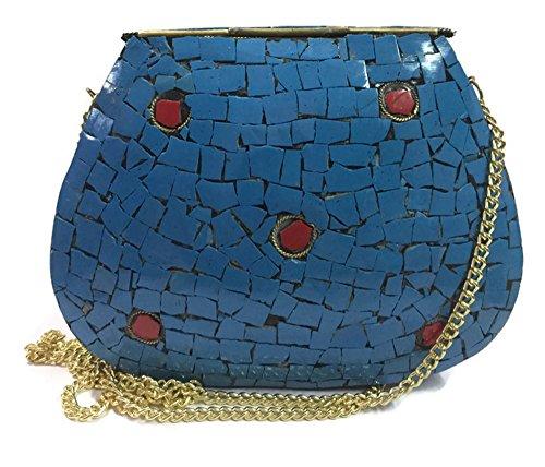 metal embrague de Blue étnico la mosaico mujeres embrague de Trend bolsos del del de bolso la embrague las honda bolso bolso bolso de vendimia vwwfSOqPH