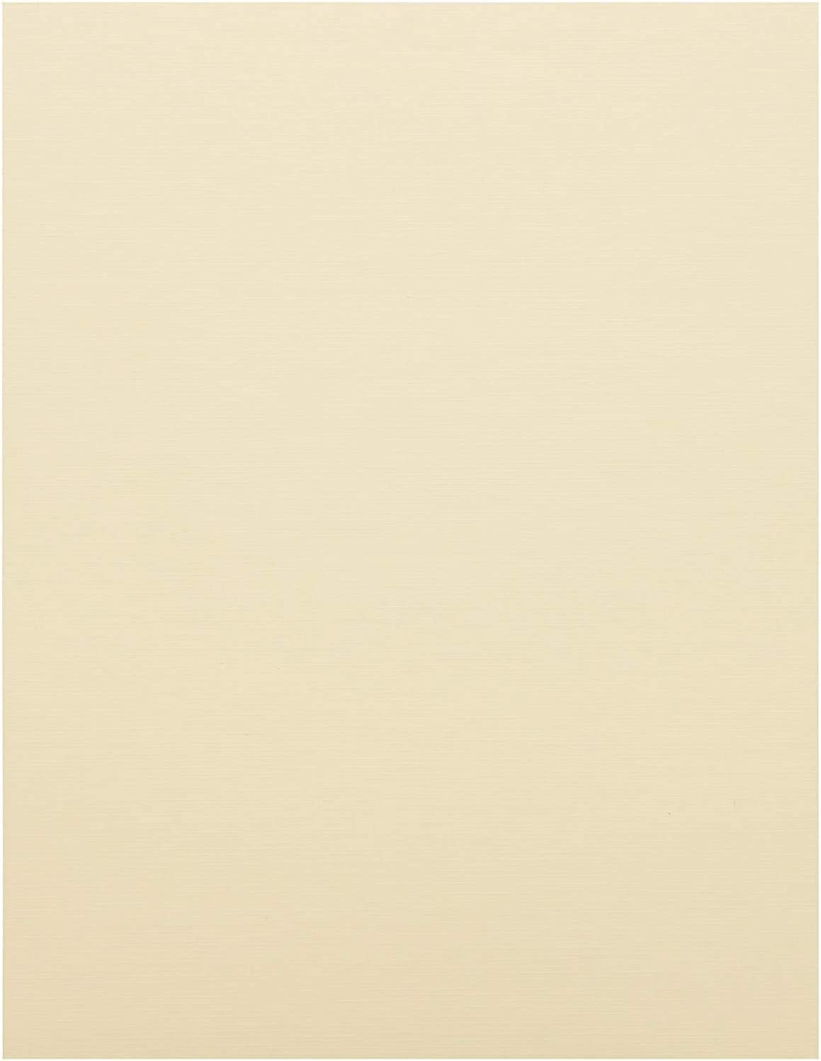 Cream Card Stock Paper, Letter Size (8.5 x 11 in, 50 Sheets)