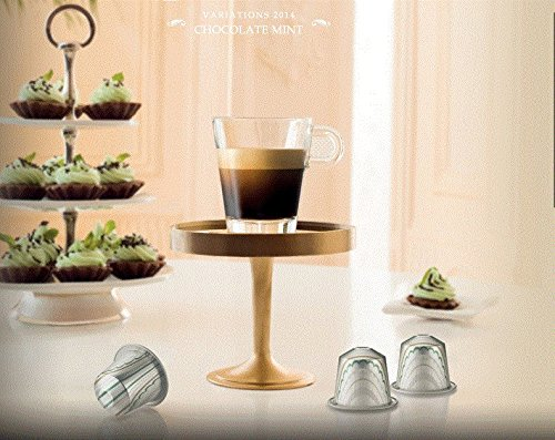 50 Nespresso Cápsulas Mezcladas Variedad Inspirada en postres Edición Limitada Sabores Navideños: Postre de avellanas, Pastel de manzana y chocolate y ...