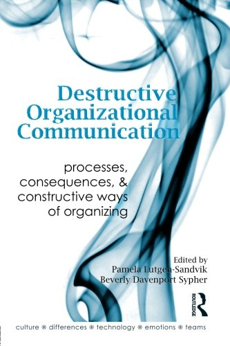 Destructive Organizational Communication: Processes, Consequences, and Constructive Ways of Organizing (Routledge Commun
