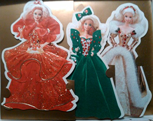 Price comparison product image Hallmark Embossed Cards-set of 3-holiday Barbie-