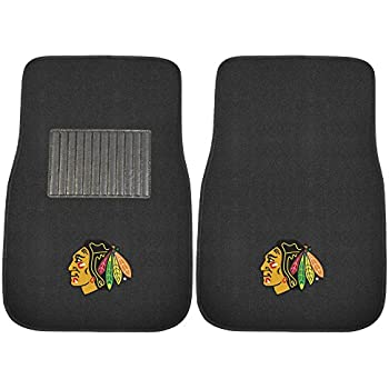 FANMATS 17090 NHL Chicago Blackhawks 2-Piece Embroidered Car Mat