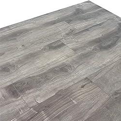 Turtle Bay Floors Ballard Grey Spalted Maple Plank Floating Laminate Flooring 12mm (Sample)