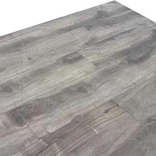 Turtle Bay Floors Ballard Grey Spalted Maple Plank Floating Laminate Flooring 12mm (Sample)