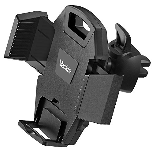 Car Mount, Veckle Air Vent Car Phone Holder With Release Button Armor Cradle Car Holder for Smartphone iPhone 8 7 Plus 6S, Samsung Note 8 S8, HTC U11, OnePlus 5, Nexus 6P, GPS and More, Black