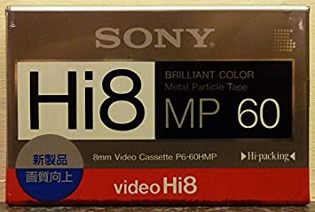 Top Quality SONY Hi8 P6-60HMP 8mm Video Cassette Camcorder Tape