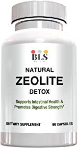 Natural Zeolite Detox Mineral Supplement – Immune System and Digestive System Support – 1000 mg Capsules-97% Pure– American Made