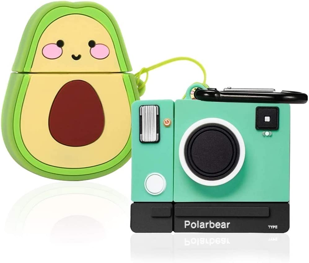 Amazon Com 2 Pack Avocado Camera Cartoon Case Compatible With