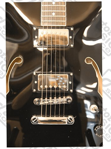 OE30 Oscar Schmidt Hollow Body Electric Guitar by Washburn, Covered Pickups, Ebony, Chrome Tuners