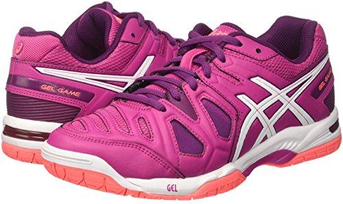 game baies Blanches 5 Ros Tennis Rose Femmes De Asics Pour Prunes Gel Chaussures YwvqZP0