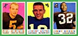 Jim Brown, Joh Unitas, Paul Hornung 1959 Topps (3) Card Reprint Lot (Browns) (Colts) (Packers)