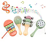 LITTLE SIENA Toddler Musical Instruments Toys, Kids Percussion Instruments Set, Preschool Educational Early Learning Musical Toys Gift for 18 Month 1 2 3 4 5 Year Olds Baby Boys Girls Children