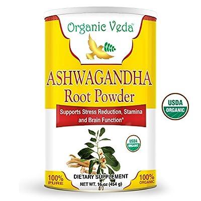 Organic Veda USDA Certified Organic Ashwagandha Root Powder