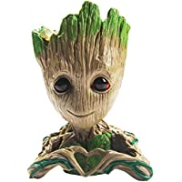 B-Best Guardians of The Galaxy Groot Pen Pot Tree Man Pens Holder or Flower Pot with Drainage Hole Perfect for a Tiny…