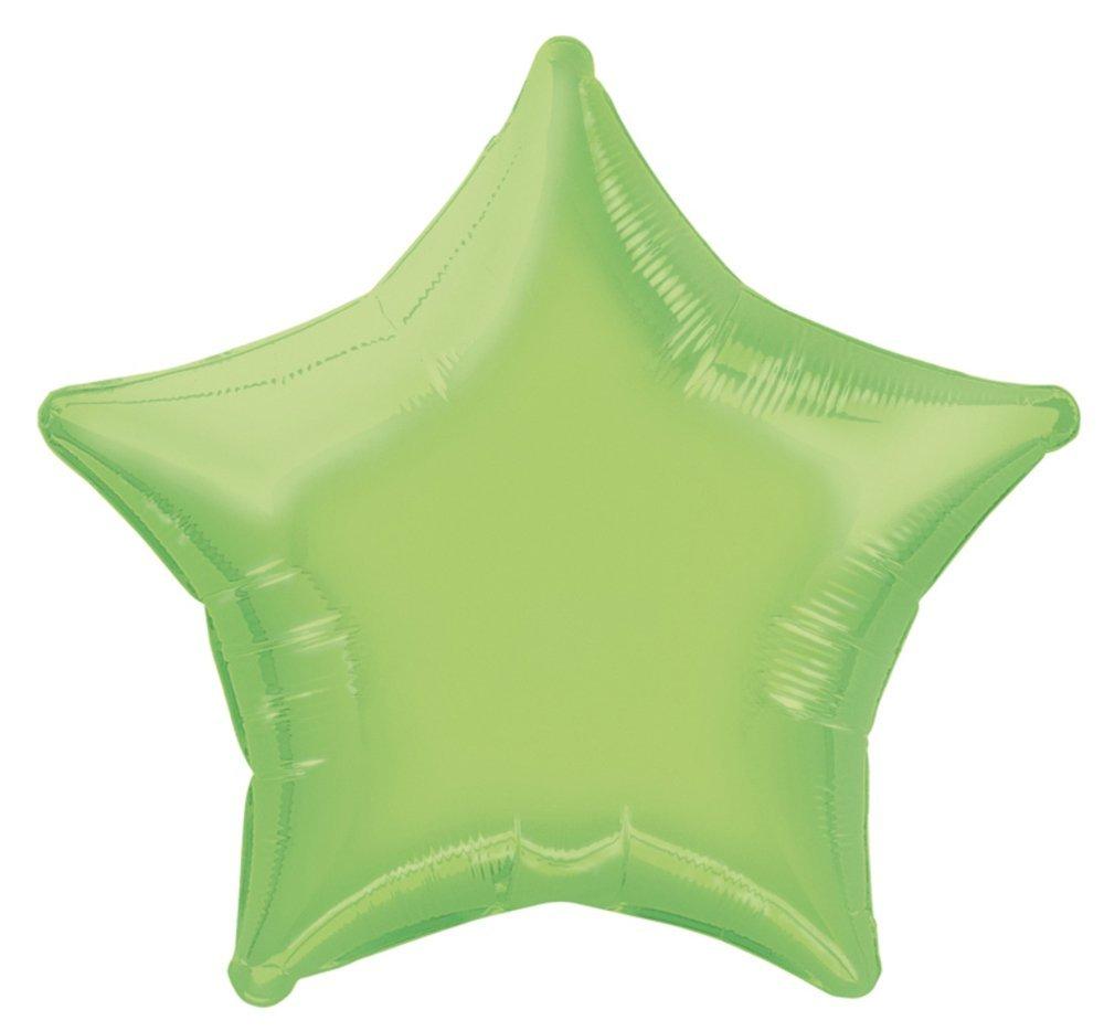 20 Foil Lime Green Star Balloon Unique 53381