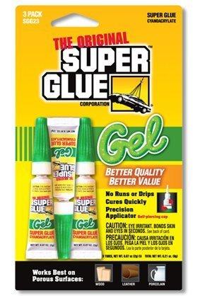 The Original Super Glue - Gel - 3 QTY - .07oz Tubes ()