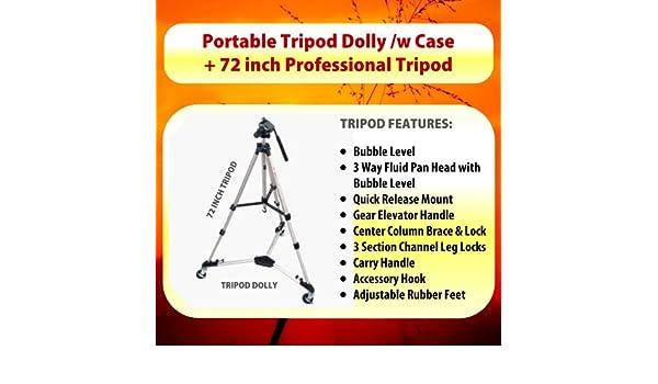 Heavy Duty Portable Tripod Dolly Including Carrying CASE for The Sony HVR-V1U Sony HVR-Z1U Sony HVR-Z7U /& Sony HXR-NX5U Mini Dv Camcorders Sony HVR-Z5U