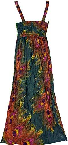 Guru-Shop Boho Sommerkleid, Krinkelkleid, Strandkleid Hippie Chic, Damen, Violett, Viskose, Size:38, Lange & Midi Kleider Alternative Bekleidung Olive