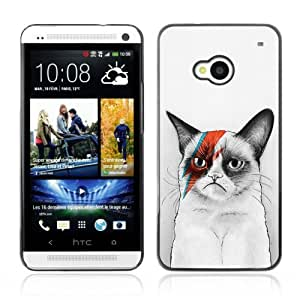 YOYOSHOP [Awesome Bowie Grumpy Cat] HTC One M7 Case by Maris's Diary