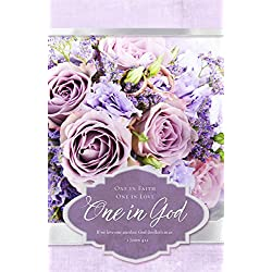 "Church Bulletin 11"" - Wedding - One in God (Pack of 100)"