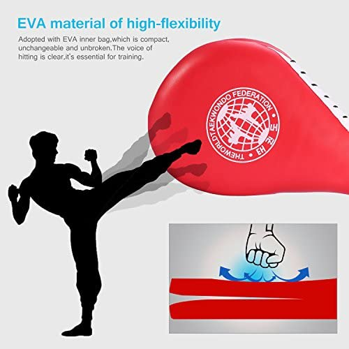 Coj/ín de Retroceso Doble Objetivo Taekwondo Karate Kickboxing Formaci/ón TKD Kicking Kick Pad de Pr/áctica Dioche Taekwondo Kick Target Pads