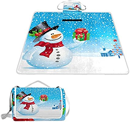 8b87cdd4a16b Amazon.com : imobaby Snowman With Gift For You Pattern Outdoor ...