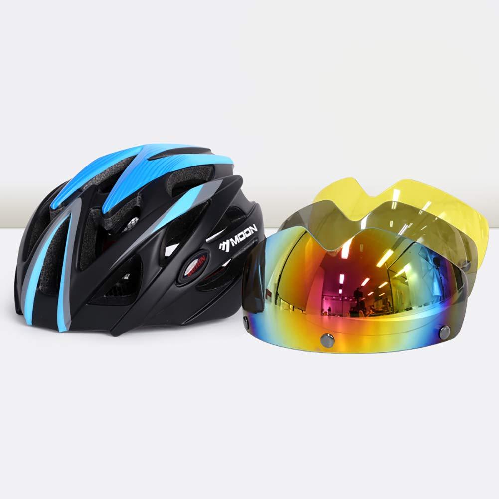 HECHEN Reitbrille Helm - männliche Fahrradausrüstung Rennrad Mountainbike Schutzhelm Fahrrad Fahrrad Schutzhelm Brille einteiliges Formteil f0df7f