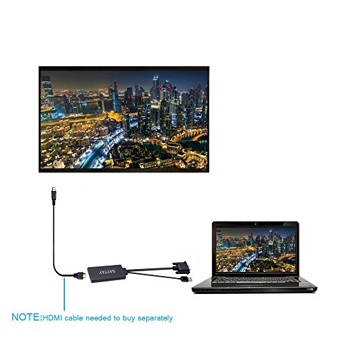 VGA TO HDMI,SAYTAY VGA to HDMI Adapter with USB for Power and Audio 1080p HD Scaler Converter Cable for Laptop Desktop TV by SAYTAY (Image #3)