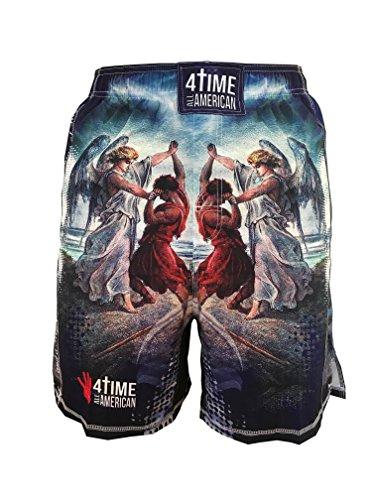 4-Time All American Jacob Wrestled God Sublimated Shorts-UFC, MMA, BJJ, Muay Thai, WOD, NOGI, Wrestling, Kickboxing, Boxing Shorts Youth and Mens sizes, by – DiZiSports Store
