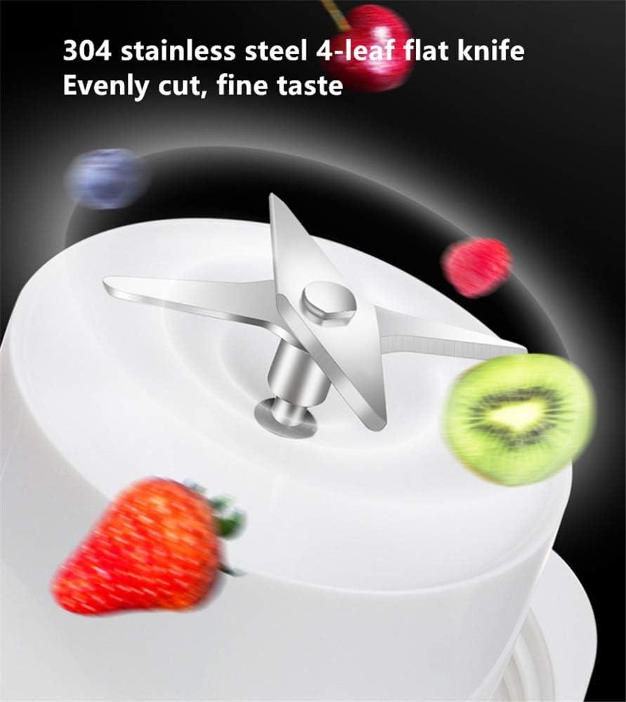 Miscelatore Frullatore Frutta Portatile o frullato vegetale Mini spremiagrumi 350ml con Ricarica USB Possono Essere utilizzati for la Corsa Esterna (Color : White) Pink