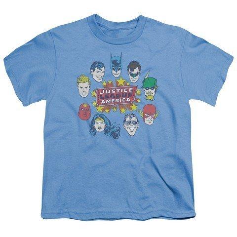 Youth: DC Comics - Justice Head Circle Kids T-Shirt Size YXL