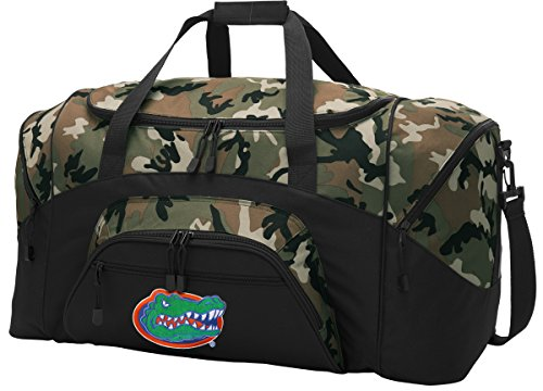 Large Florida Gators Duffel Bag CAMO University of Florida Gym Bags Luggage by Broad Bay