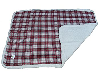 XXL Perros Manta cama Perros y Gatos Mascotas cama rojo cuadros 140 x 100 cm: Amazon.es: Productos para mascotas