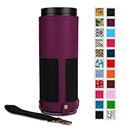 Fintie Protective Case for Amazon Echo - Premium Vegan Leather Cover Sleeve Skins (Upgraded Edition), Purple